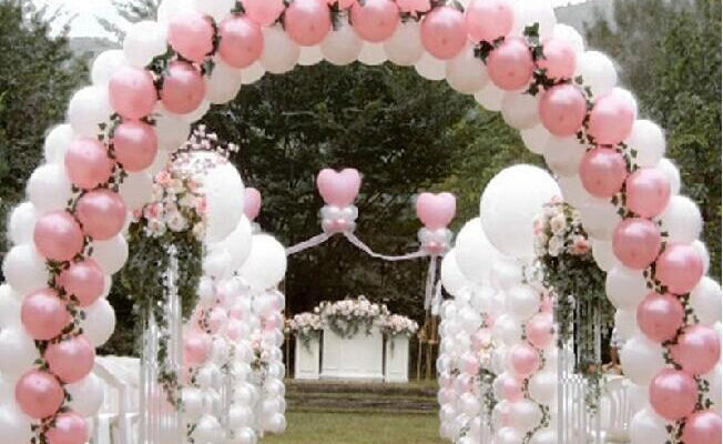 Arco globos low cost